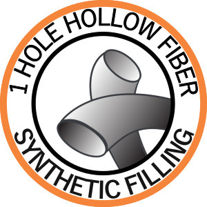 Synthetic filling: 1-hole hollow fiber