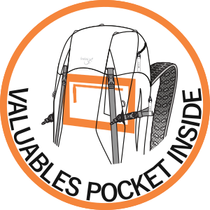 Valuables pocket inside