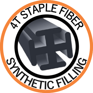 Synthetic filling: 4T staple fiber