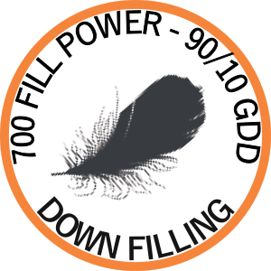 Down filling: 700 Fill power - RDS certified - 90/10 GDD