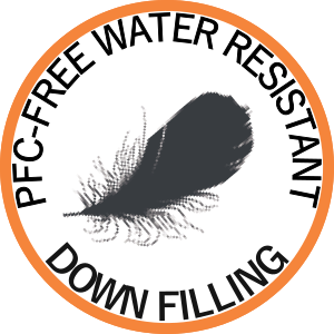 PFC-free water resistant down filling