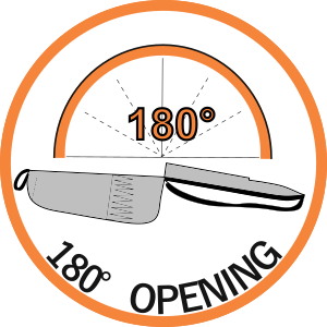 180 degrees opening